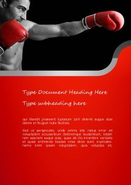Kickboxer Word Template, Cover Page, 11156, Sports — PoweredTemplate.com