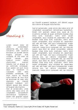 Kickboxer Word Template, First Inner Page, 11156, Sports — PoweredTemplate.com