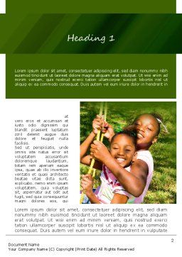 Happy Sisters Word Template, First Inner Page, 11159, People — PoweredTemplate.com