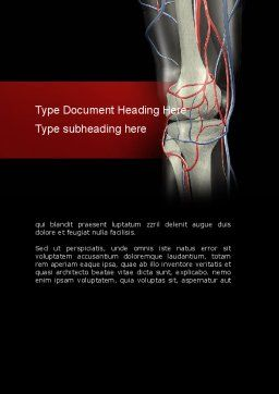 Knee Word Template, Cover Page, 11160, Medical — PoweredTemplate.com