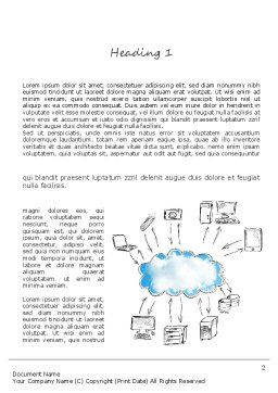 Cloud Technology Word Template, First Inner Page, 11163, Technology, Science & Computers — PoweredTemplate.com