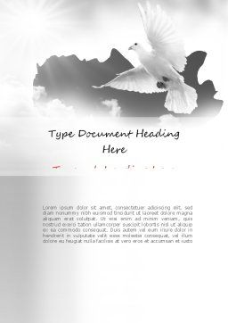 Flying Pigeon Word Template, Cover Page, 11164, Religious/Spiritual — PoweredTemplate.com