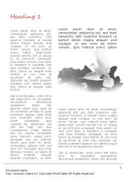 Flying Pigeon Word Template, First Inner Page, 11164, Religious/Spiritual — PoweredTemplate.com