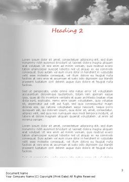 Flying Pigeon Word Template, Second Inner Page, 11164, Religious/Spiritual — PoweredTemplate.com