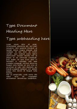 Plenty of Food Word Template Cover Page