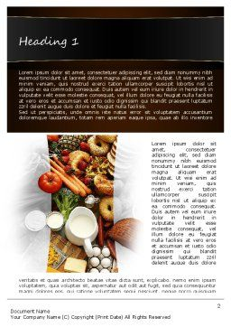 Plenty of Food Word Template First Inner Page