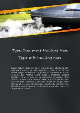Car Exhaust Word Template, Cover Page, 11169, Nature & Environment — PoweredTemplate.com