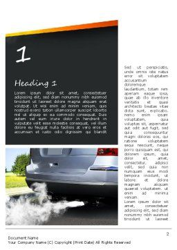 Car Exhaust Word Template, First Inner Page, 11169, Nature & Environment — PoweredTemplate.com