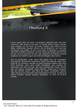 Car Exhaust Word Template, Second Inner Page, 11169, Nature & Environment — PoweredTemplate.com