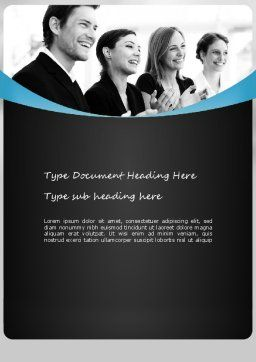 Congratulations Word Template, Cover Page, 11172, People — PoweredTemplate.com