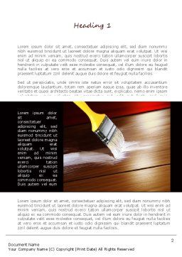 Painting Wood Floor Word Template, First Inner Page, 11173, Careers/Industry — PoweredTemplate.com