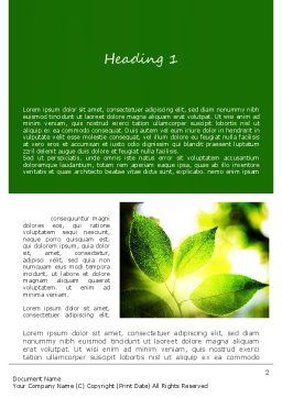 Ecology Theme Word Template, First Inner Page, 11175, Nature & Environment — PoweredTemplate.com