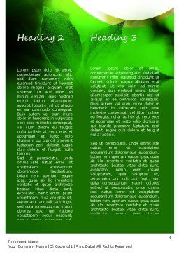Ecology Theme Word Template, Second Inner Page, 11175, Nature & Environment — PoweredTemplate.com