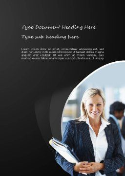 Business Insurance Word Template, Cover Page, 11176, Careers/Industry — PoweredTemplate.com