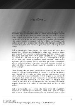 Iteration Word Template, Second Inner Page, 11179, Technology, Science & Computers — PoweredTemplate.com