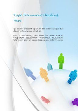 Going Global Word Template, Cover Page, 11180, Business Concepts — PoweredTemplate.com