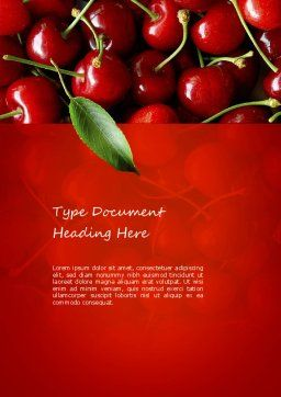 Cherries Word Template Cover Page