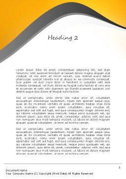 Jackhammer Worker Word Template, Second Inner Page, 11183, Construction — PoweredTemplate.com