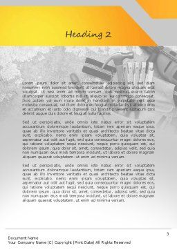 Construction Tools Word Template, Second Inner Page, 11186, Utilities/Industrial — PoweredTemplate.com