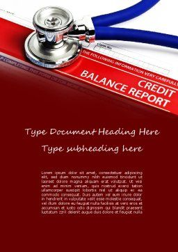 Credit Balance Report Word Template, Cover Page, 11187, Medical — PoweredTemplate.com