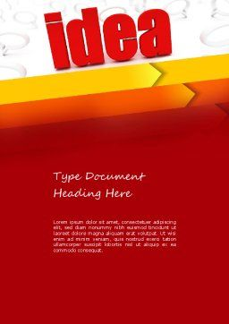 Idea with Arrows Word Template, Cover Page, 11189, Business Concepts — PoweredTemplate.com