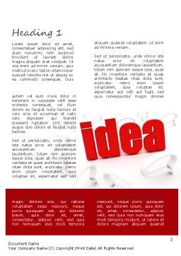 Idea with Arrows Word Template, First Inner Page, 11189, Business Concepts — PoweredTemplate.com