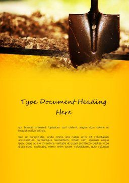 Shovel Word Template, Cover Page, 11190, Utilities/Industrial — PoweredTemplate.com