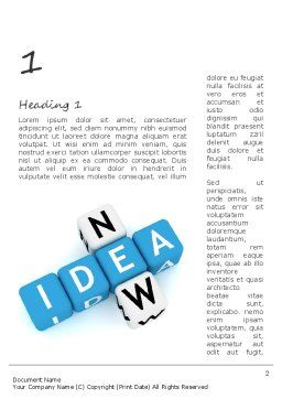 New Idea Crossword Word Template First Inner Page