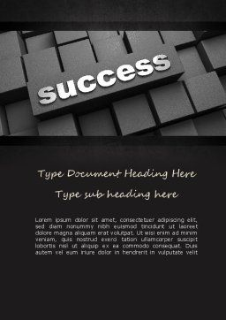 Success Tittle on a Block Word Template, Cover Page, 11194, Business Concepts — PoweredTemplate.com