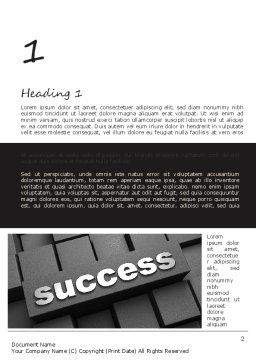 Success Tittle on a Block Word Template, First Inner Page, 11194, Business Concepts — PoweredTemplate.com