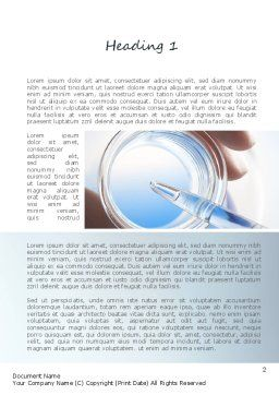 Chemical Analysis Word Template, First Inner Page, 11205, Technology, Science & Computers — PoweredTemplate.com