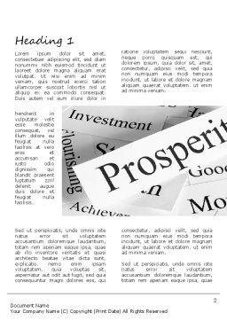 Prosperity Word Template, First Inner Page, 11207, Business Concepts — PoweredTemplate.com