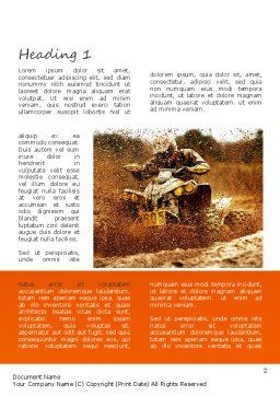 ATV Racing Word Template, First Inner Page, 11210, Sports — PoweredTemplate.com