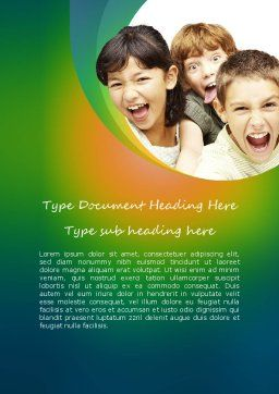 Kids Have Fun Word Template Cover Page