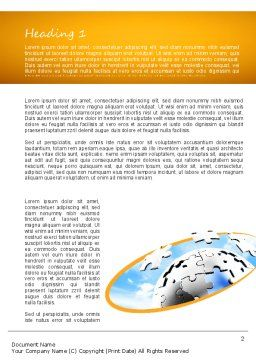 Puzzle Sphere Word Template First Inner Page