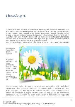 Nature and Beauty Word Template, First Inner Page, 11214, Nature & Environment — PoweredTemplate.com