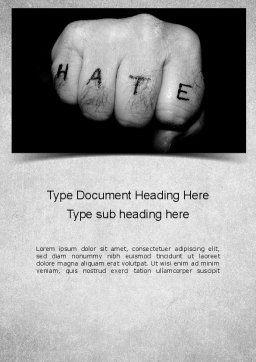 Hate Word Template Cover Page