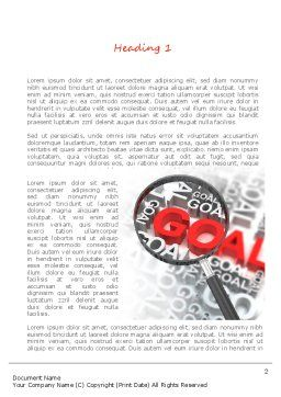 Business Goals Word Template, First Inner Page, 11216, Business Concepts — PoweredTemplate.com