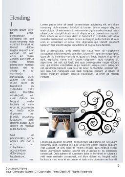 Business Creativity Word Template, First Inner Page, 11218, Business — PoweredTemplate.com