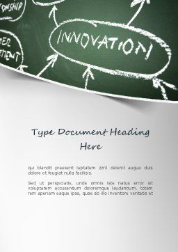 Innovation Mind Map Word Template, Cover Page, 11220, Business Concepts — PoweredTemplate.com
