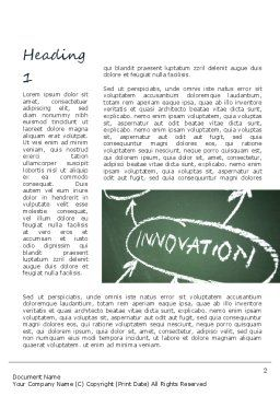 Innovation Mind Map Word Template, First Inner Page, 11220, Business Concepts — PoweredTemplate.com