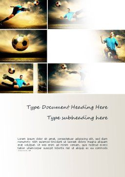 Soccer Collage Word Template, Cover Page, 11221, Sports — PoweredTemplate.com