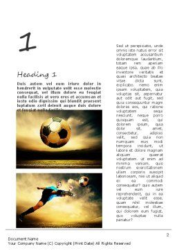 Soccer Collage Word Template, First Inner Page, 11221, Sports — PoweredTemplate.com