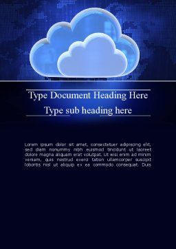 Cloud Technology Services Word Template, Cover Page, 11223, Technology, Science & Computers — PoweredTemplate.com