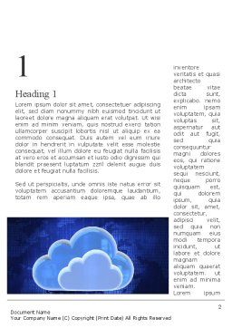 Cloud Technology Services Word Template, First Inner Page, 11223, Technology, Science & Computers — PoweredTemplate.com