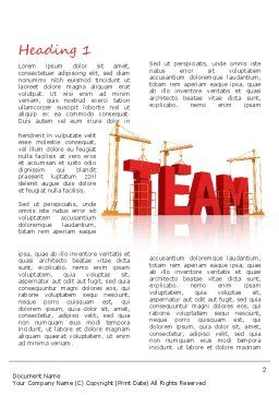 Team Building Under Construction Word Template, First Inner Page, 11226, Careers/Industry — PoweredTemplate.com
