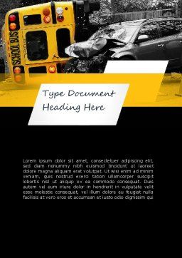 School Bus Accident Word Template, Cover Page, 11229, Legal — PoweredTemplate.com