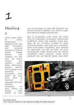 School Bus Accident Word Template, First Inner Page, 11229, Legal — PoweredTemplate.com