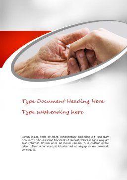 Elderly Care Word Template, Cover Page, 11230, Religious/Spiritual — PoweredTemplate.com