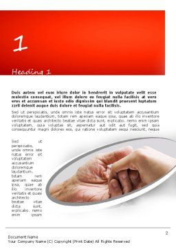 Elderly Care Word Template First Inner Page